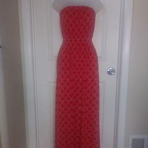 Lucky Red Sleeveless Maxi Dress